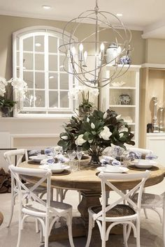 Formal Dining Room Table and Chairs . formal Dining Room Table and Chairs . Dining Room Walls, Dining Room Sets, Dining Room Lighting, Dining Room Design, Hamptons Decor, The Hamptons, Fashion Room, Table And Chairs, Red Chairs