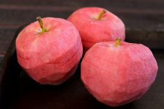 Pink Pearl is an apple cultivar developed in 1944 by Albert Etter, a northern California breeder. Pink Pearl apples are named for their bright, pink flesh. They have a translucent yellow-green skin and an aromatic flesh with a delicious sweet-tart flavor.