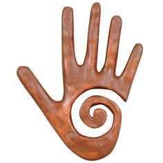 Healing Hand Wall Sculpture - Rust