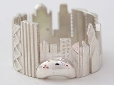 Chicago Cityscape - Skyline Ring 3d printed