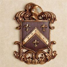 Fleur de Lis Coat of Arms Wall Plaque