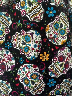 Day of the Dead / Dia de los Muertos / Half Apron with Pocket / Halloween Apron / Sugar Skulls