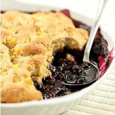 Double Corn-Blueberry Cobbler recipe