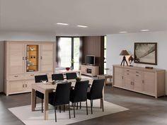 SORPRESA - Une superbe salle à manger, disponible en plusieurs coloris (beige, taupe, gris-brun, gris clair, gris, noir, petrol et pomme vert). N'hésitez pas et découvrez-la en magasin | Meubles Nikelly