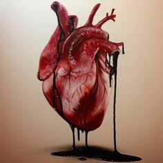 Heart drawing by @robertbatemanart _ by arts__gallery