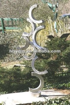 Semi-circle Stainless Steel Sculpture for Garden Decoration