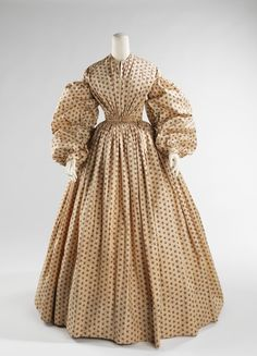 Dress, Morning \ ca. 1852 \ American \ cotton
