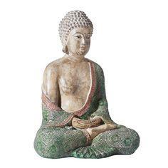 Diese Buddha-Figur vermittelt Ruhe und Sanftheit. Mit der Skulptur werden Urlaubserinnerungen an Asien wach!