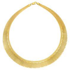 Mercury 18k Gold Overlay 17-inch Cleopatra Collar