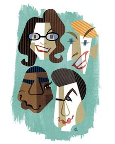 30 Rock illustration by David Cowles