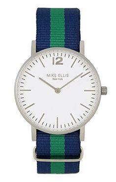 Mike Ellis New York Unisex-Armbanduhr CW1 Analog Quarz Nylon SM4564C2 - http://uhr.haus/mike-ellis-new-york/mike-ellis-new-york-unisex-armbanduhr-cw1-analog-6