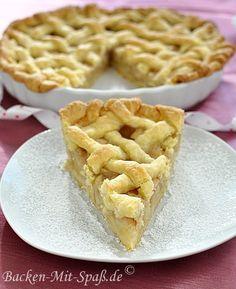 Apple pie Pie Bakery, Bakery Cafe, Apple Pie Recipes, Baking Recipes, Apple Pies, American Apple Pie, Freezing Apples, Breakfast Dessert, Strudel