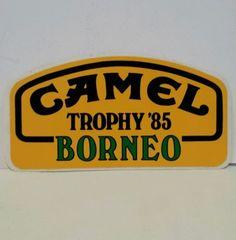 Gli adesivi del Camel Trophy erano ovunque...