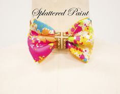 Jay Nicole's Bows Pre-tied  #Paint splattered Cotton Adjustable Neckband  #fashion #bowtie