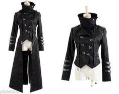 3 Pièce Scorpion long gothique manteau homme Punk Rave Visual Kei Steampunk Veste