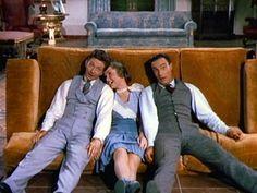 singing in the rain - Gene Kelly, Debbie Reynolds, Donald O'connor...the best scene, they were greattttttttt