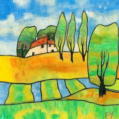 L'oeuvre unique et originale Journée paisible a été réalisée par l'artiste Marina Rey, qui peint des paysages urbains très détaillés a base de peinture particulière, qu'il conçoit lui-même, de laque et de feuilles d'or pour un...