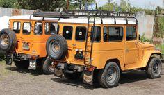 FJ40 , BJ40 , Long Safari Land Cruiser Roof Rack w/ Ladder and Mounting Hardware…