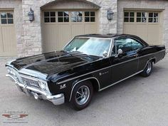 "1966 Chevrolet Impala SS 396, not quite ""Baby"" from Supernatural, but her slightly older sister. #chevroletimpala1966"