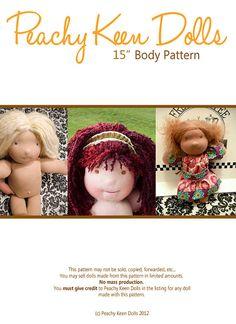 15 Waldorf Doll PATTERN PDF via Etsy