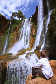 Admiring Cascades d'Ouzoud, the tallest waterfall in North Africa, Morocco (by sherif-san).