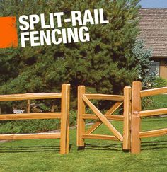 A split-rail fence is constructed using logs that have been split into rails. Theyre often used for fencing farmland.