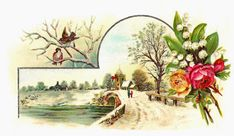 Antique Images: Free Vintage Graphic: Flower and Bird Clip Art wit...
