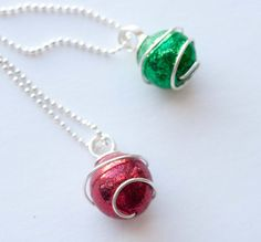 Fascinated by the pretty Christmas ornaments? Well why not wear one this holiday…