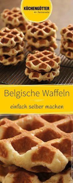 Rezept für selbstgemachte belgische Waffeln.