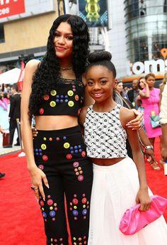 "goddessofchanel: "" ayee-daria: "" whitegirlsaintshit: "" zenvdaya: ""Zendaya & Skai Jackson at the 2015 Radio Disney Music Awards "" YASSS WET N WAVY "" "" Tween Fashion, Black Girl Fashion, Black Girl Magic, Black Girls, Black Celebrities, Celebs, Black Is Beautiful, Beautiful People, Ski Jackson"