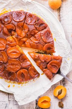 Caramelized Apricot Upside Down Cake | The View from Great Island
