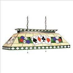 Stained Glass Poker Pool Table Light Http://www.billiardfactory.com/
