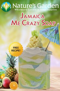 Jamaica Me Crazy Soap Recipe by Nature's Garden is a cp soap tutorial using the Jamaica Me Crazy Fragrance Oil to make your own soap from scratch. Homemade Shampoo, Face Scrub Homemade, Homemade Conditioner, Hair Conditioner, Soap Colorants, Green Soap, Soap Tutorial, Soap Making Supplies, Homemade Soap Recipes
