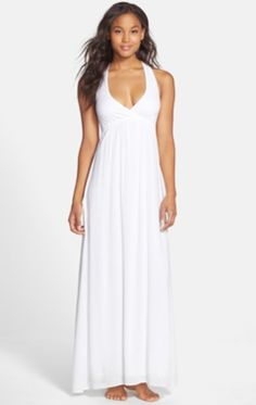 Wear this sexy, cotton Hard Tail Twisty Back Maxi Dress to bask in the summer sun or walk the beach after its gone down. http://thestir.cafemom.com/beauty_style/185968/11_white_hot_styles_for