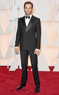Oscars 2015 Red Carpet: Who Wore What | Chris Pine | EW.com