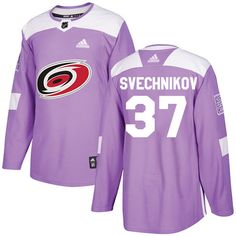 fd5dd17e5 Adidas Hurricanes  37 Andrei Svechnikov Purple Authentic Fights Cancer  Stitched NHL Jersey Montreal Canadiens