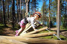 """46 Likes, 1 Comments - Vuokatin Seikkailupuisto (@vuokatinseikkailupuisto) on Instagram: """"Hauskaa liikuntaa metsän keskellä! 😊 #summerfun #pienetseikkailijat #vuokatinseikkailupuisto…"""""""