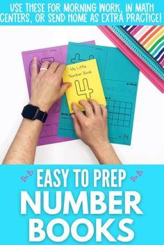 These easy to prep number books are perfect for morning work, in math centers, or for extra practice at home! If you are looking for low prep number activities, these printable number books are a great option! #easytoprep #easytoprepnumberbooks #kindergartennumberbooks Miss Kindergarten, Numbers Kindergarten, Kindergarten Math Activities, Number Activities, Kindergarten Classroom, Printable Numbers, Writing Numbers, Morning Work, Little Books