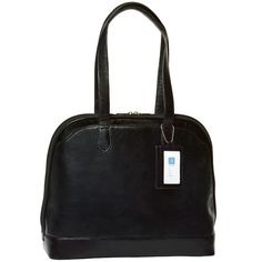 """Alicia Klein """"Lucy"""" Monterey Smooth Leather Laptop Briefcase. A beautifully polished leather laptop briefcase"""
