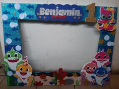 Baby Shark, Birthday Party Themes, Bb, Symbols, Baby Shower, Letters, Selfie, Frame, Christening