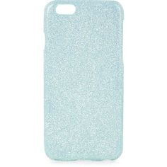 TOPSHOP Aqua Glitter iPhone 6 Case (775 RUB) ❤ liked on Polyvore featuring accessories, tech accessories, phone case, aqua and topshop