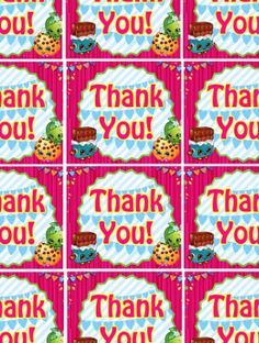 FREE Shopkins Birthday Party Thank You Tags And Other Printable Files