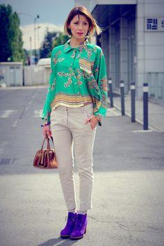 Violet-paul-smith-shoes-green-rinascimento-shirt-brown-vintage-bag http://www.chictopia.com/photo/show/639916-Foulard+Print-violet-paul-smith-shoes-green-rinascimento-shirt-brown-vintage-bag#