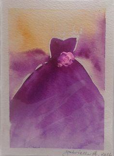 Watercolorcard, sign by Gabriella Alanko, 2016