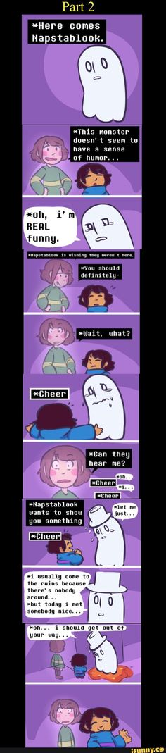 narrachara being confused by napstablook responding to their off-handed comment is my aesthetic