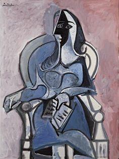 Pablo Picasso - 1960 - Femme assise dans un fauteuil