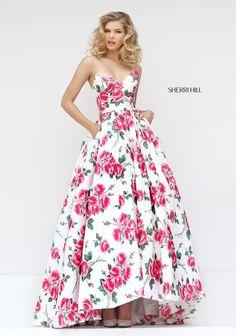 Classic Floor Length Sweetheart Neckline Fancy Prom Party Dress Sherri Hill 50482