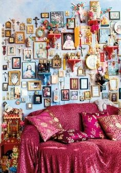 Home Interior Inspiration Bohemian Bedrooms, Bohemian Bedroom Design, Bohemian Decor, Bedroom Designs, Estilo Kitsch, Deco Boheme, Home And Deco, Style At Home, My New Room
