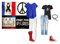 """PRAY FOR PARIS"" by superella04 on Polyvore featuring Rick Owens Lilies, H&M, Converse and Genetic Denim"
