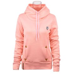 Fashion Casual Self-tie Pockets Pullover Hooded Sweatshirts for Women
